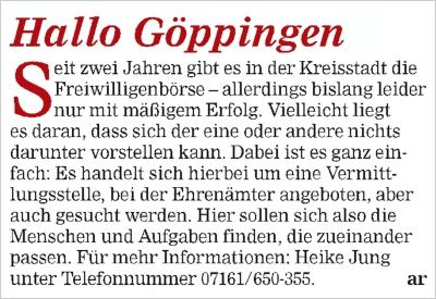 Stuttgarter stadtanzeiger bekanntschaften